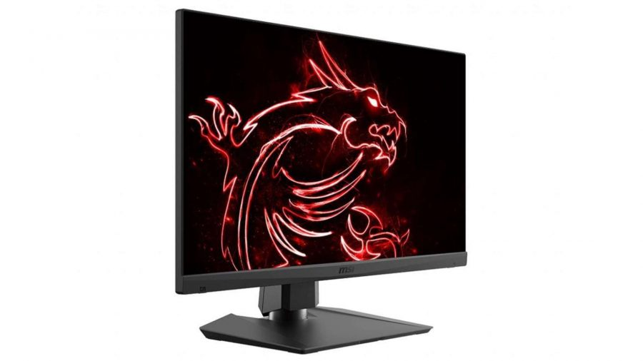 Moniteur de MSI affichant un dragon rouge sur son écran