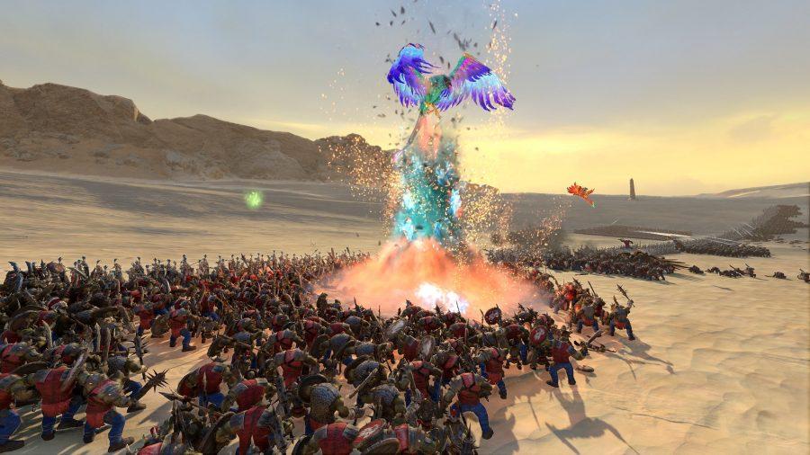 Une bête volante de Warhammer 2
