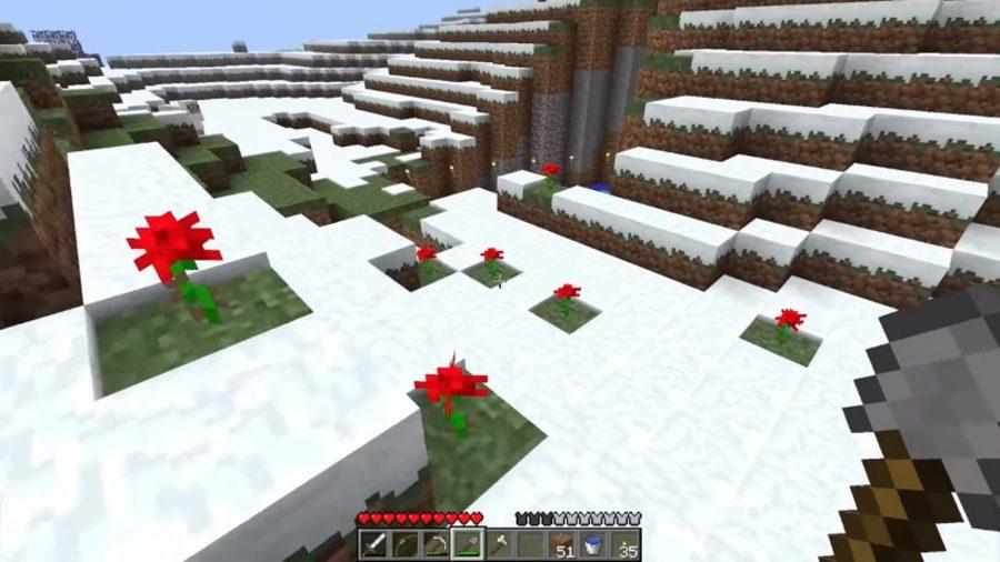 Montagnes enneigées dans les terres lointaines ou Bust Minecraft Let's Play