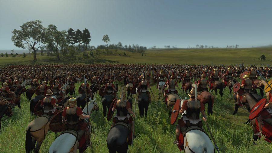 Une photo de Rome 2 montrant des formations qui pourraient être utilisées dans un jeu du Seigneur des Anneaux